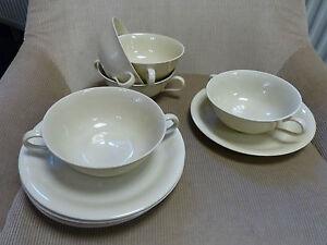 Rosenthal  5 x Suppentasse mit Unterteller Helena beige     (V)
