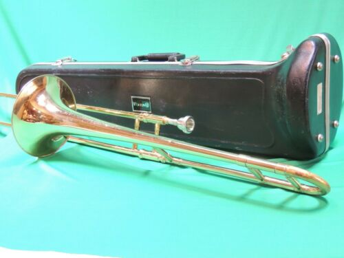 VINTAGE 💎HOLTON TROMBONE Refurbished w/ Bach 12c Mouthpiece & Case