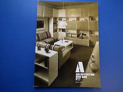 DDR Zeitschrift-Architektur der DDR Heft -9/1977-Rostock Evershagen-Berlin-