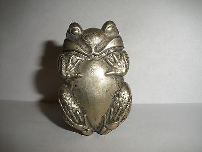 Antique Gorham figural Frog Silver Plate Match Holder