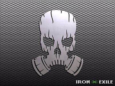 GAS MASK SKULL #2 -- Apocalypse Metal Art Wall Sign Zombie Mancave Skater War - Zombie Gas Mask