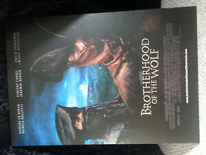Brotherhood of the Wolf plaqued movie poster London Ontario image 1