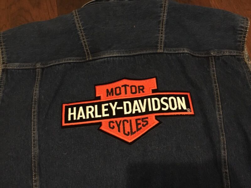 Men's Denim Harley Davidson Vest Large