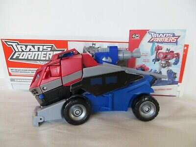 Optimus Prime Truck Animated TRANSFORMERS Voyager Class Autobot Level 3 2007