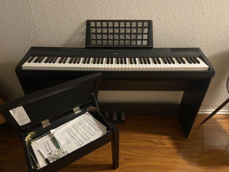 P-115wh 88-key P115 White Yamaha Digital Piano P Series Electronic Keyboards