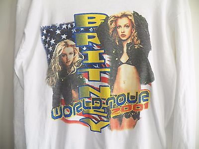 Vintage BRITNEY SPEARS 2001 The Britney World Tour Large Pop Concert L/S T-Shirt