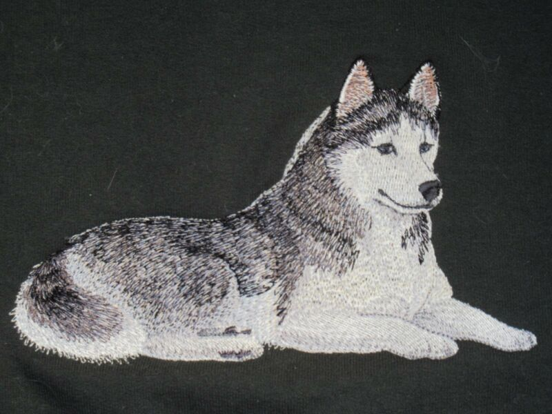 Embroidered Ladies Fleece Jacket - Siberian Husky C4977 Sizes S - XXL