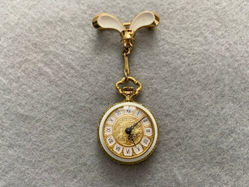 Swiss Made Kent Vintage Mechanical Wind Up Brooch Pin Watch