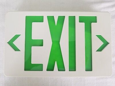 Emergency Exit Sign Light Fixtures Led Fire Lights With Battery Back Up Indoor