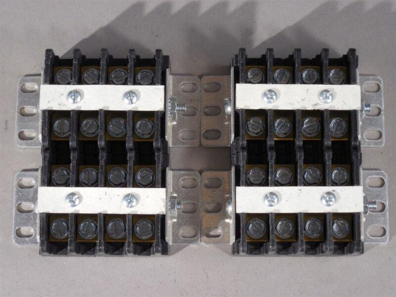 LOT of 4 Curtis 4 Position Terminal Block Strip