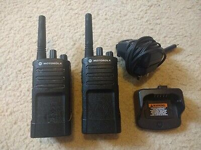 2 x Motorola Walkie Talkie With Charger and Belt Clip