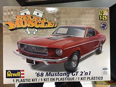 Revell 1968 Ford Mustang GT 2n1 1/25 Scale Kit 85-4215