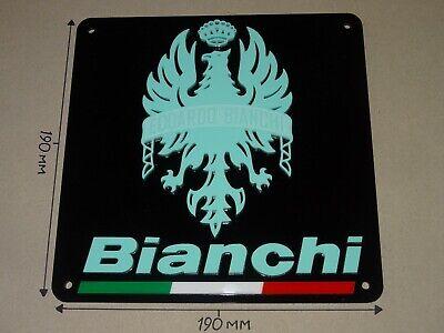 BIANCHI. Bianchi Road Bike. Acrylic Cycling Sign. 190mm X 190mm.