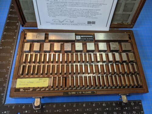 Mitutoyo 516-402 .100 to 4.00 inch Square Gage Block Set Inspection Setup Gauge