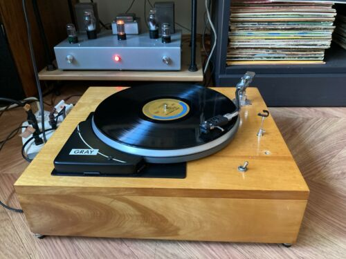 Gray HSK-33 Turntable, Syntec S-220 Tonearm, See Video