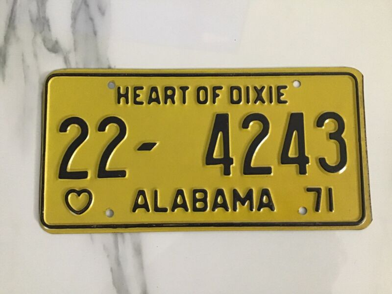 1971 Alabama License Plate 22-4243