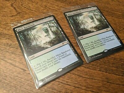 2x Misty Rainforest Secret Lair Enemy Fetch Land Sealed