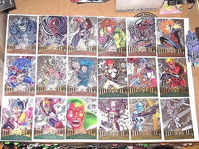 1995 MARVEL METAL SILVER FLASHERS PARALLEL CARD SINGLES POWER GRID UPDATED 2/7