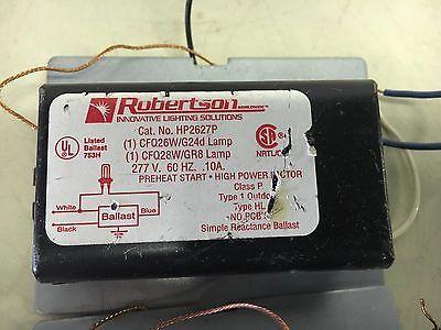 Robertson Hp2627p Lot Of 2 Used Ballasts 277v 1cfq26w 2 Pin See Pics B75