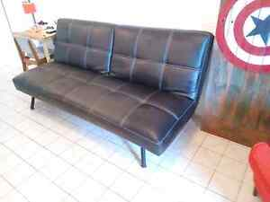 Click Clack sofa / modern Leather Futon couch Bulimba Brisbane South East Preview