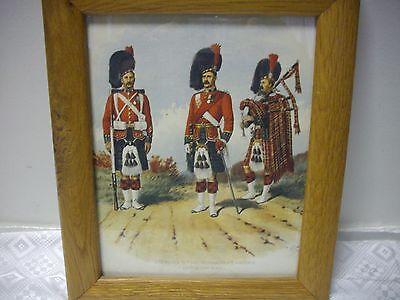 Печатные England (Royal Highlanders) Antique 1890's