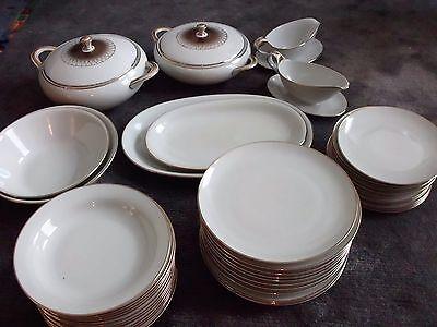 Speise Service Winterling Antik mit Goldrand für 12 Personen 43 teilig