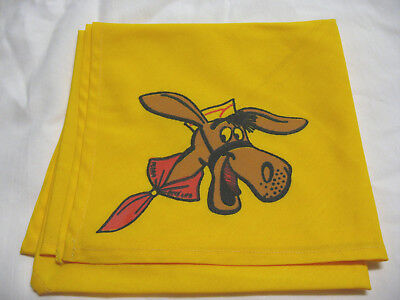 Original Mint 1960s Yellow Pedro Neckerchief  Boy Scouts BSA  Boys' Life  NOS