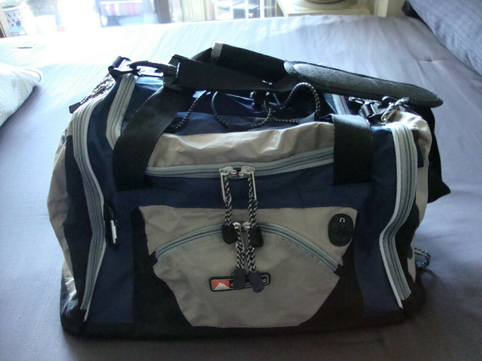 Ozark Trail Duffle Style Bag Blue Pockets Organized Outdoor Camping Equipment - $13.99