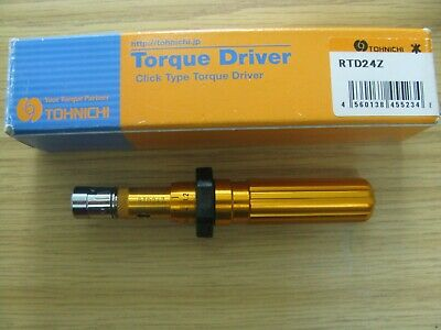 Tohnichi Adjustable Torque Driver Rtd24z 6-24 Ozf In. Made In Japan