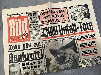 Bildzeitung 20. März 1961 BILD Zeitung 20.03.1961 * 61. 58. 59. 60. Geburtstag