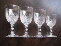 alte Kristallgläser Schliff # vintage # 4 verschiedene Grössen