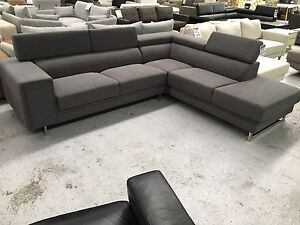 """Brand New """"Webster"""" Taupe Fabric Corner Lounge Epping Whittlesea Area Preview"""