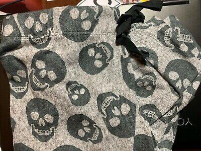 Halloween Lounge Pants (Warm & Snuggly SIZE L BLACK SKULLS Lounge Pants JOGGERS PJ'S JR SLEEP)