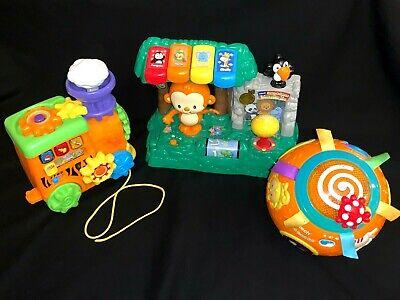 Lot of 3 Baby Infant Toddler Developmental Learning Toys Vtech Learn & Dance Zoo