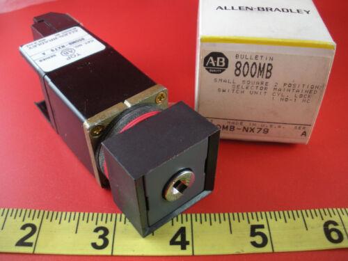 Allen Bradley 800MB-NX79 Ser A Selector Switch 2 Pos Maint 1NO 1NC Key Lock New