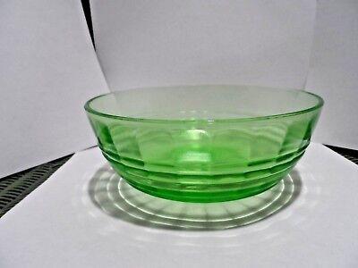 "Vintage 2 3/4"" x 6 3/4"" Green Depression Paneled Bowl - Unknown"
