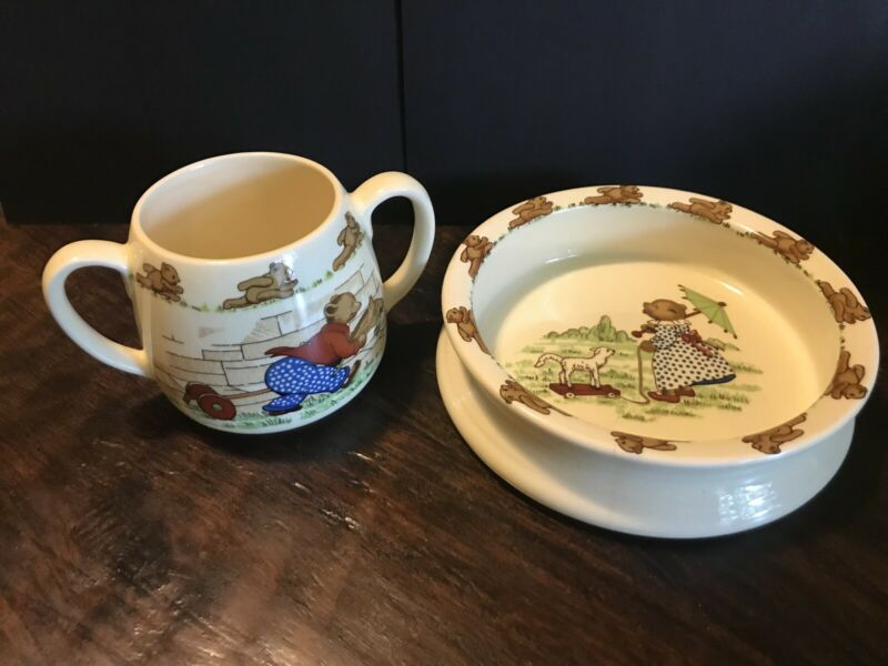 Sylvac Ware Children's Bowl And Cup Made In England