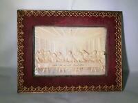 Das heilige Abendmahl Konfirmation Bild Bakelit Relief hohl Samt Sachsen - Bautzen Vorschau