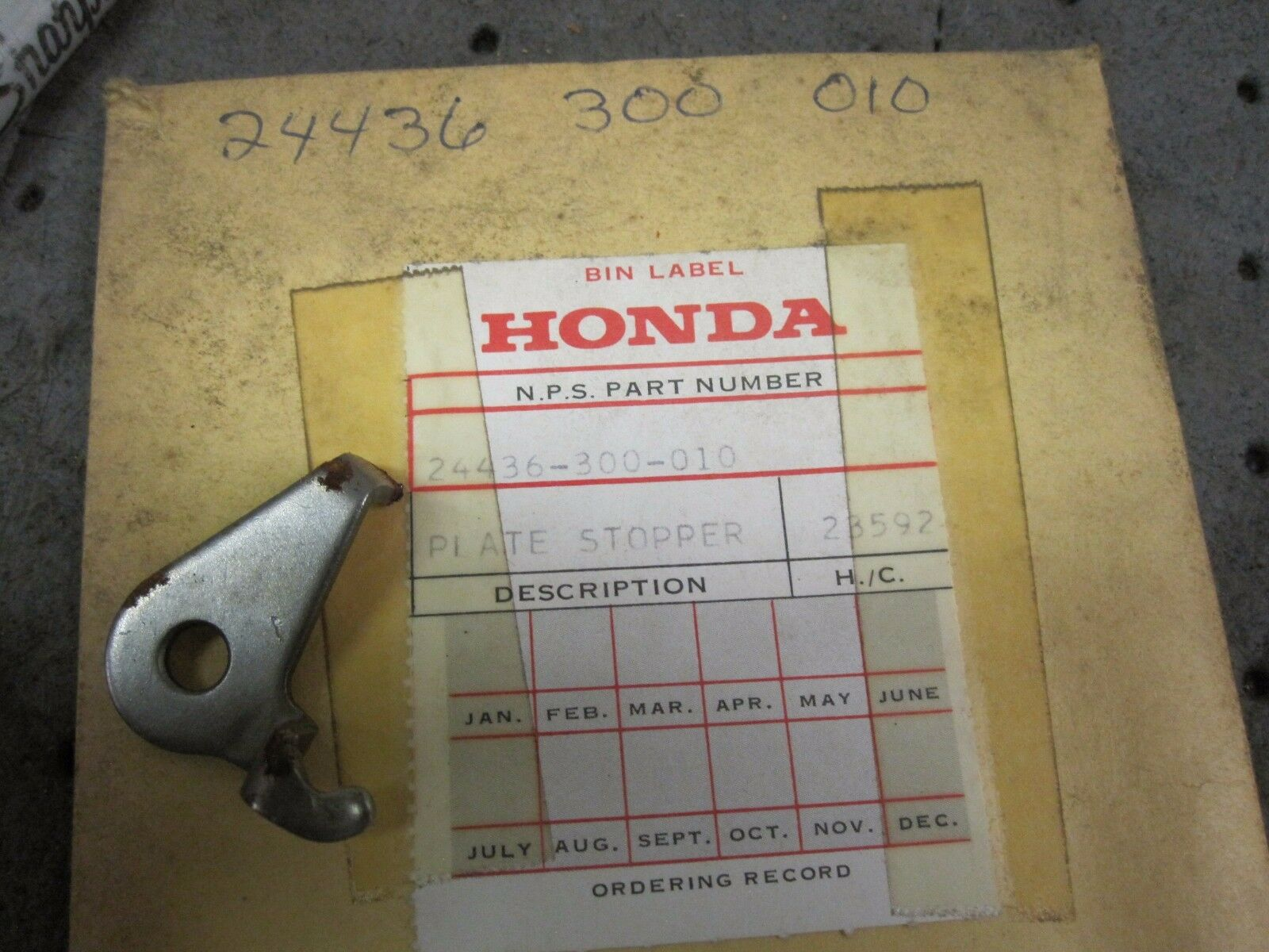 NOS 69-76 HONDA CB 750 GEARSHIFT FORK SHAFT STOPPER PLATE 24436-300-010