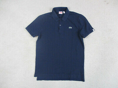 Lacoste Polo Shirt Adult Medium Size 4 Blue Green Crocodile Sport Rugby Mens A9