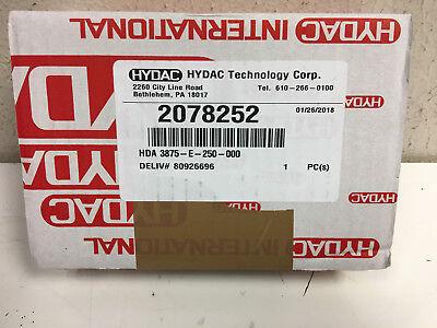 Hydac Pressure Transducer Model Hda 3875-e-250-0000