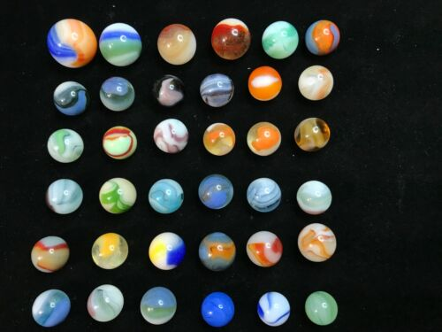 36 VINTAGE MARBLES MIXED LOT 3