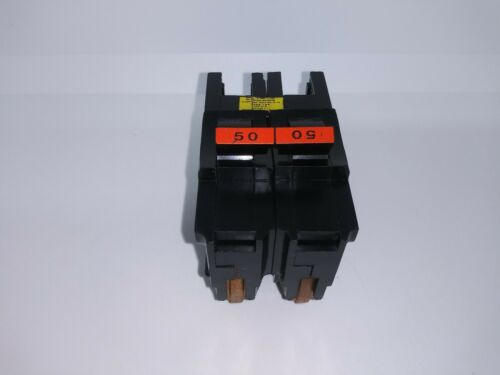 FPE FEDERAL PACIFIC NA250 50 AMP 2 POLE 120/240v Circuit Breaker TYPE NA RED