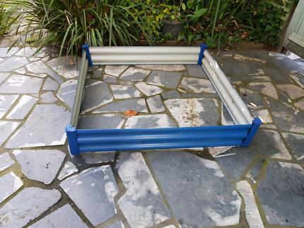 BLUE CORRUGATED IRON GARDEN BED