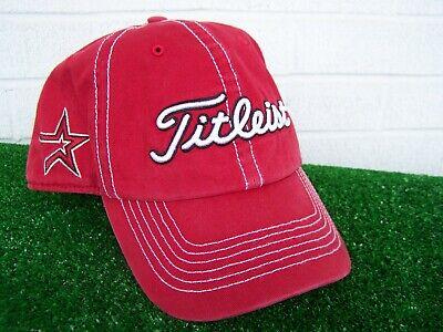 Titleist Houston Astros Contrast Stitch Adjustable MLB Team Golf Hat Cap -