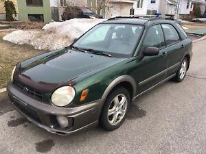 Subaru Impreza outback 2002 2.5