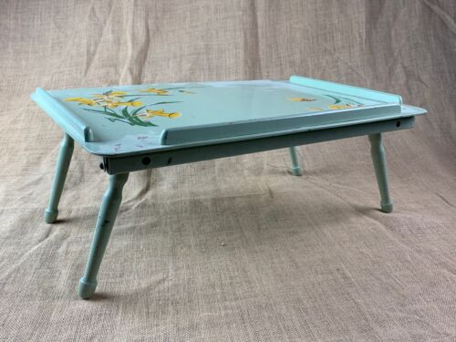 Vintage Painted Daffodil Folding Breakfast in Bed Tray * 20 x 13