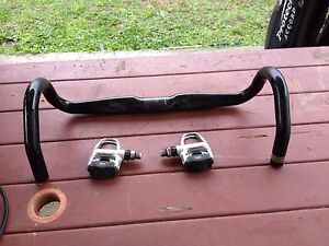Race bike handle bar and foot pedals East Branxton Cessnock Area Preview