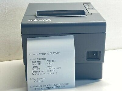 Epson Tm-t88iv M129h Thermal Receipt Printer Micros Pos Parallel Port No Ac Cord