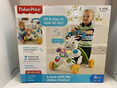 Fisher-Price Learn With Me Zebra Walker Toys for Babys Boys and Girls
